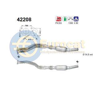 A4 -11/00 / A6 1/98- / Passat IV (1.8i-20V ARG/APT/ADR/AJP/AQE/ARH) katalysator