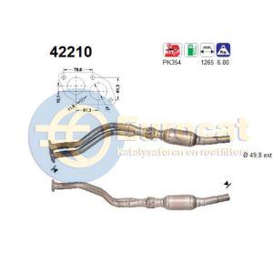 A4 10/96- / Passat IV (1.6i AHL/ADP) katalysator