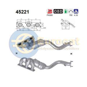 E46 4/98- (320i/323i/328i) E39 9/98- (520i/523i/528i) Z3 (2.0i/2.8i) voorste katalysator