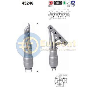 E87 (116i/118i) / E90 -1/07 (316i/318i) / E91 -8/07 (318i) katalysator