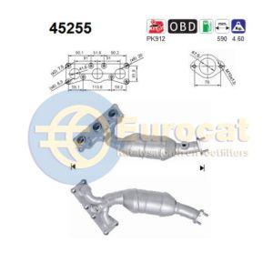 E90 -8/07 (323i/325i/330i) achterste katalysator