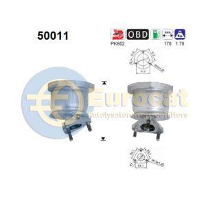 Matiz (0.8i/1.0i) 09/00- katalysator voorzijde