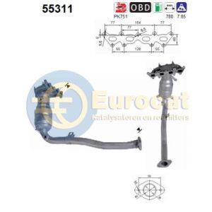 Stilo 9/01-12/03 (1.2i-16V) katalysator