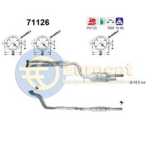 W124 10/92-5/95 (200E/200TE/220E/220TE/E200/E220) katalysator