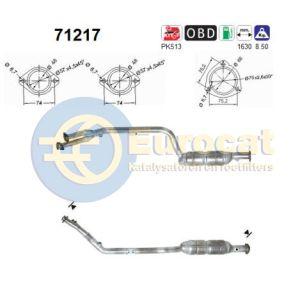 W170 4/00-3/04 (SLK230 kompressor) katalysator