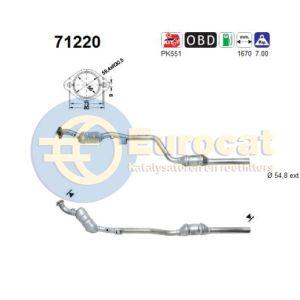 W210 (E240/E280) rechter katalysator