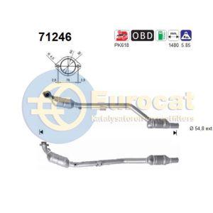 C240 / C320 / CLK240 / CLK320 rechter katalysator