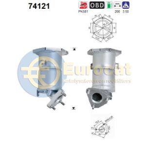 Almera -3/01 (1.5i-16V/1.8-16V) / Almera Tino -2/03 (1.8i-16V) voorste katalysator