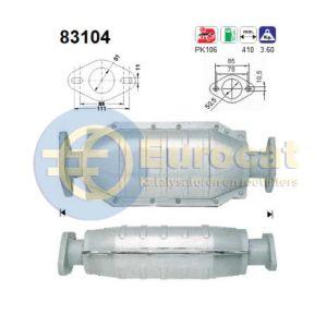 211 / 214 / 216 / 414 / 416 (1.1I-8V/1.4I-8V/1.4I-16V/1.6I/16V) katalysator