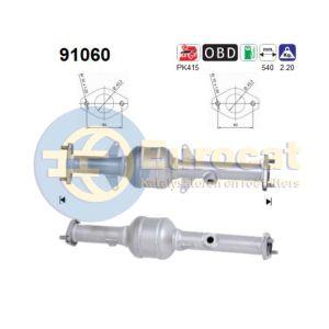 Alto -3/06 (1.1i-16V) achterste katalysator