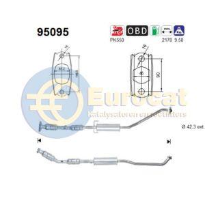 Corolla (1.4i-16V/1.6i-16V) 05/04- katalysator achterzijde