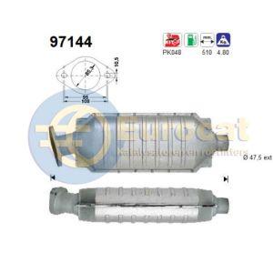 S40 -12/98 / V40 -12/98 (1.6i-16V/1.8i-16V/2.0i-16V) katalysator