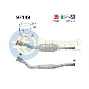 850 1/96-6/97 / S70 9/96- / V70 9/96- (2.0i-10V/2.4i-10V) katalysator