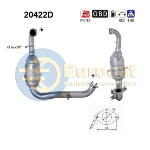 Focus 10/04- (1.6TDCI) / Focus C-Max 9/03- (1.6TDCi) katalysator