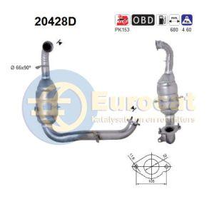 Focus II (1.6TD TDCI) / Focus C-Max 4/05- (1.6TDCi) katalysator