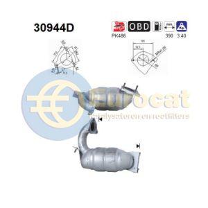 Megane II / Laguna II / Espace IV (1.9DCi) katalysator