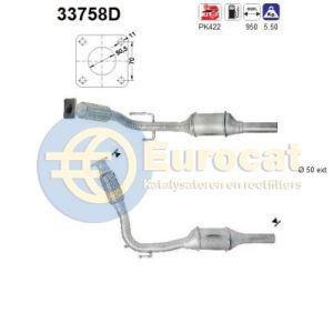 Polo 7/96- / Lupo 10/98- / Arosa (1.7SDi/1.9D) katalysator