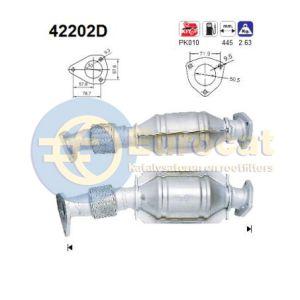 A4 2/96- / A6 / Passat IV (1.9TDi) katalysator