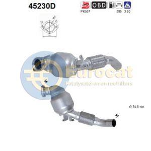 E46 -3/03 (330TD ook 4x4) voorste katalysator