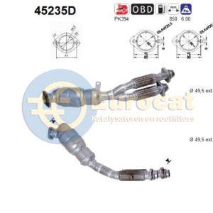 E39 3/00- (525TD/530D automaat) voorste katalysator