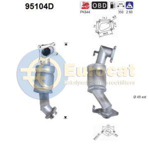 Yaris 10/01- (1.4TD D4D) katalysator