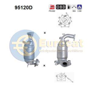 Corolla -2/07 / Corolla Verso -8/05 (2.0TD D4D) voorste katalysator