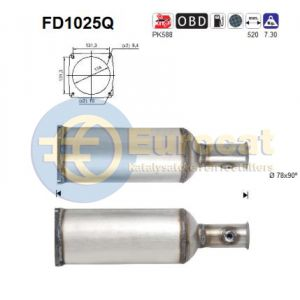 C6 / 407 (2.7HDi) 10/06- roetfilter silicon
