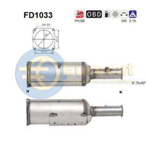 607 (2.2HDi) 06/06- roetfilter cordieriet