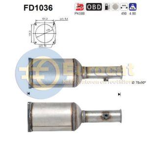 C5 I (2.0HDi) 09/02- roetfilter cordieriet