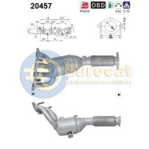 B-Max/Ecosport/Fiesta (1.4LPG/1.5Ti/1.6Ti) 06/08- katalysator