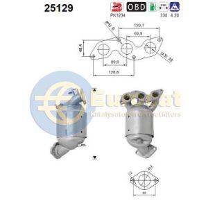 Picanto (1.0i) -01/17 katalysator voorzijde