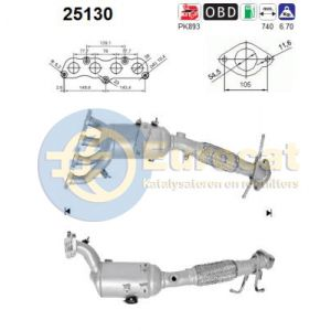 Mazda 3 (1.6MZR) -10/11 katalysator