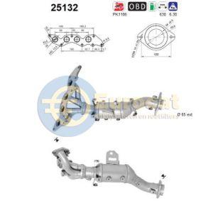 Mazda 6 (2.0 MZR) 01/10-07/13 katalysator voorzijde