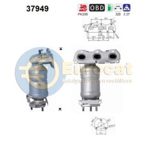 Ibiza IV / Fabia II / Polo (1.2i) -05/14 katalysator