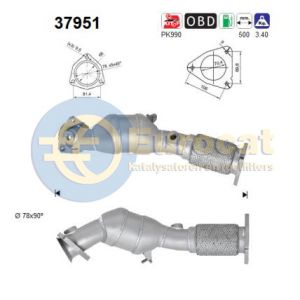 Touareg (4.2i-V8) 12/02- katalysator linksvoor