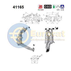 156 / GT / Spider (2.0JTs) 04/03- katalysator (e4)