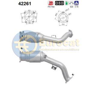 A4 / A5 / Q5 (2.0TFSi) -03/12 katalysator