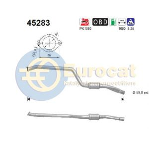 335i (3.0i) 03/07- katalysator Rechts achterzijde