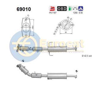 Lexus CT200H /Auris (1.8i Hybrid) 10/12- katalysator (e6)