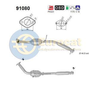 Jimny (1.3i-16V) 01/11- katalysator achterzijde (e5)