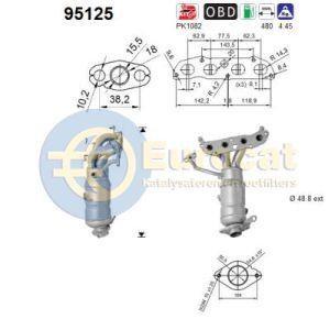 Auris / Corolla / Yaris (1.33 Dual VVTi) -01/10 katalysator voorzijde (e5)