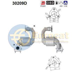 Espace IV / Laguna III (2.0DCi) 09/10- katalysator