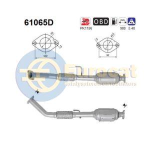 H1 / H200 / H300 (2.5CRDi) 01/07- katalysator achterzijde (e4)