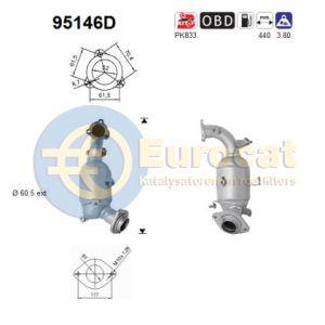 Verso (2.0D-4D) -07/10 katalysator voorzijde (e4)