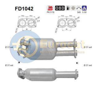 535D (E60 / E61) (3.0D) roetfilter cordieriet (e4)