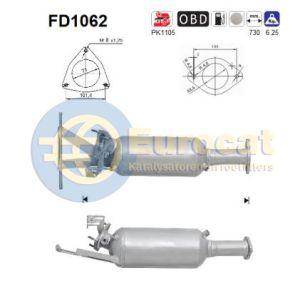 XC70 / XC90 (2.4 D5) roetfilter cordieriet