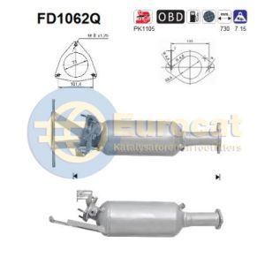 XC70 / XC90 (2.4 D5) roetfilter silicon
