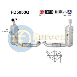 C-Max II / Focus III / Mazda 3 / V50 (1.6TD) 07/10- roetfilter silicon (e5)