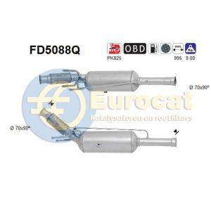 C4 II / DS4 / DS5 / 3008 / 308 I / RCZ (2.0HDi) 07/10- roetfilter silicon (e5)