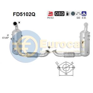 C-Max II / Focus III (1.6TDCi) 07/10- roetfilter silicon (e5)